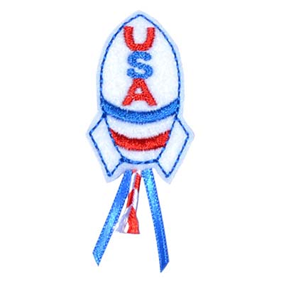 USA Rocket Embroidery File