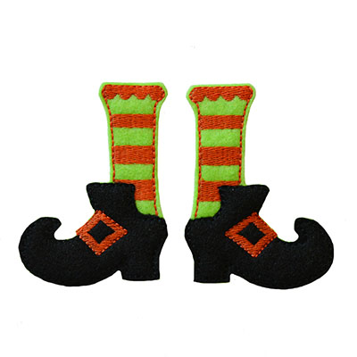 Witch Legs Embroidery File
