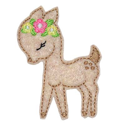 Woodland Deer Embroidery File
