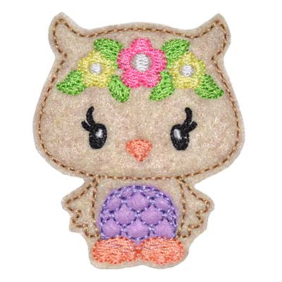 Woodland Owl Embroidery File